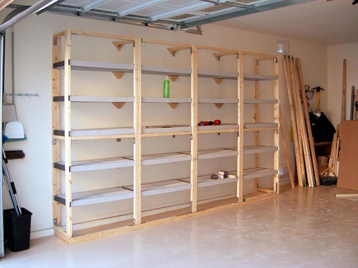 woodworking plans free standing shelves
